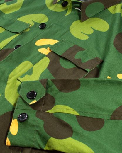 Green Camo Army Jacket #JungleCamo - details