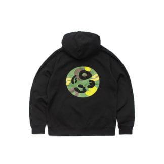 Black Pullover Hoodie #JunglePanda - back