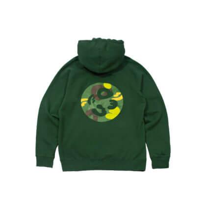 Green Pullover Hoodie #JunglePanda - back