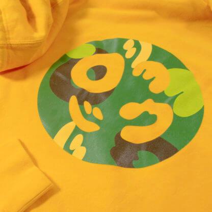 Pullover Hoodie (Yellow) #JunglePanda - camo print