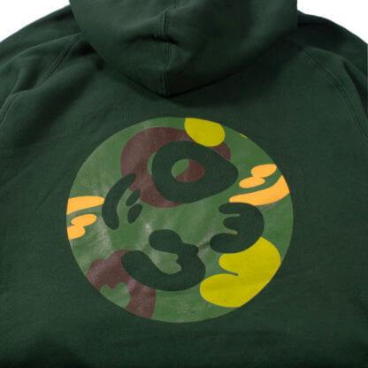 Green Pullover Hoodie #JunglePanda - backprint