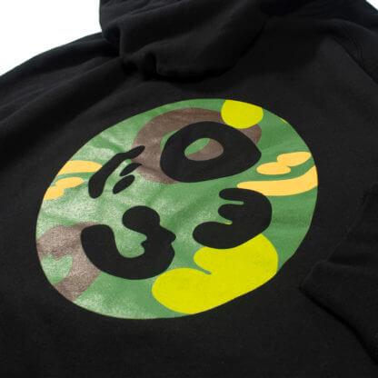 Black Pullover Hoodie #JunglePanda - backprint