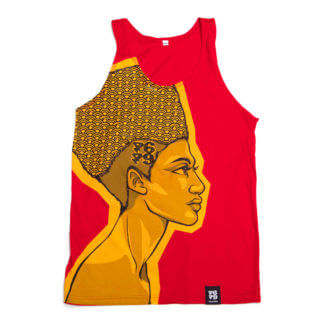 Egyptian Queen: Cartoon Jumbo Print Vest (Red)