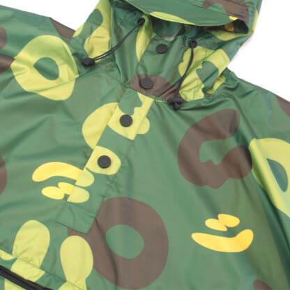 Camo Waterproof Poncho #JungleCamo - front details