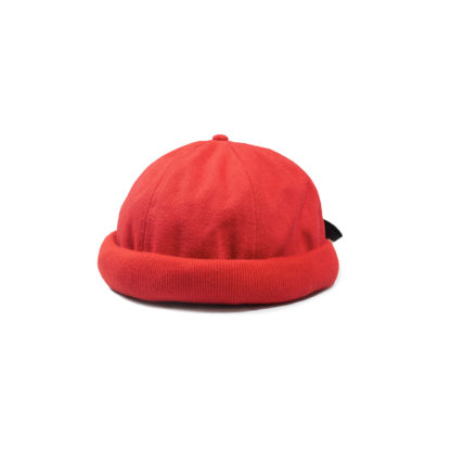 Cotton Docker Cap (Red) - front