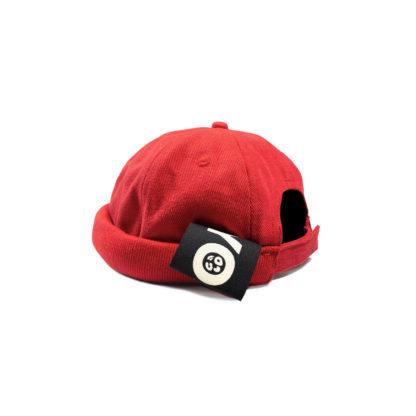 Cotton Docker Cap (Red) - side
