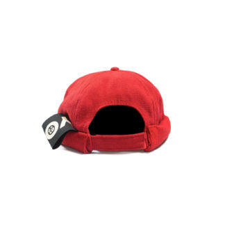 Cotton Docker Cap (Red) - back