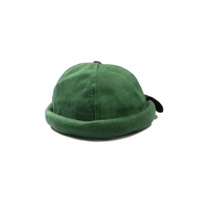 Cotton Docker Cap (Green) - front