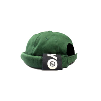 Cotton Docker Cap (Green) - side