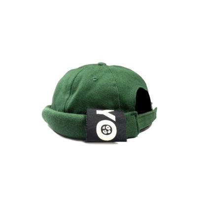 Cotton Docker Cap (Green) - side