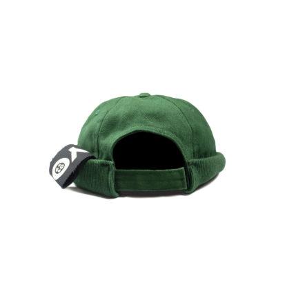 Cotton Docker Cap (Green) - back