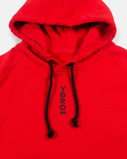 Red Pullover Hoodie #TribeCamo Front Zoom