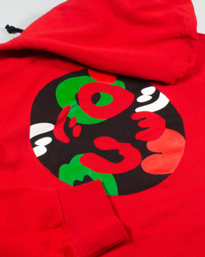 Red Pullover Hoodie #TribeCamo Back Zoom