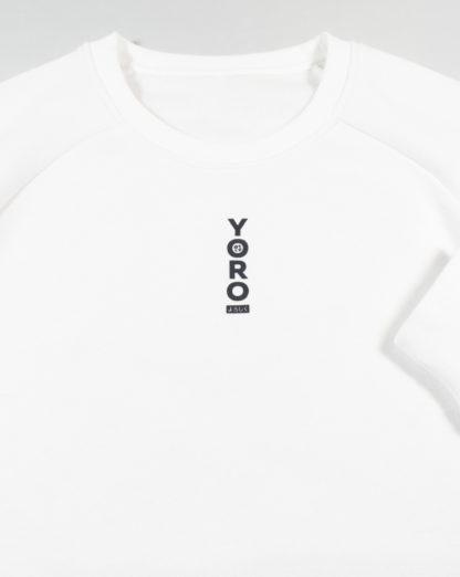 White Sweatshirt Jumper #TribeCamo - front details