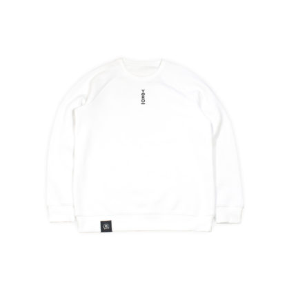 White Sweatshirt Jumper #TribeCamo - front