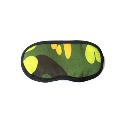 Camouflage Eye Mask - green front