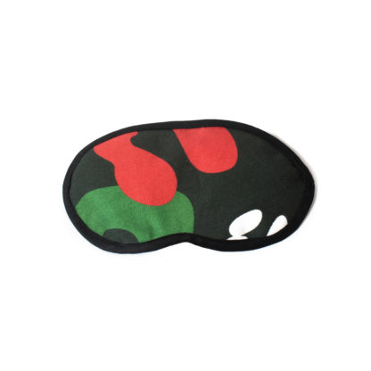 Camouflage Eye Mask - black front
