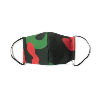 Camouflage Face Mask - black front