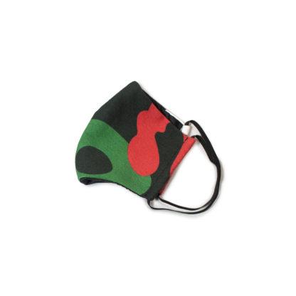 Camouflage Face Mask - black folded