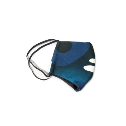 Camouflage Face Mask - blue folded