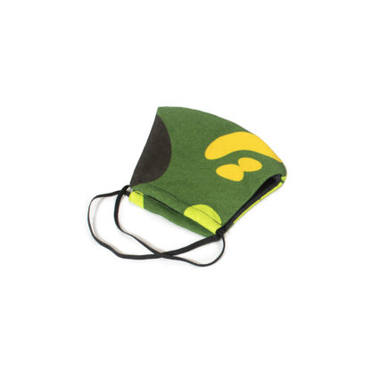 Camouflage Face Mask - green folded