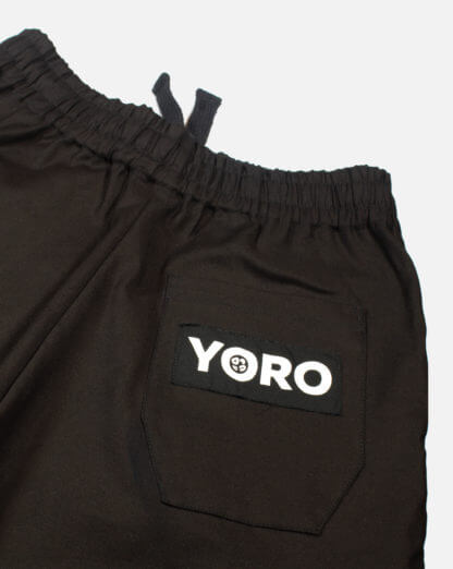Oversized Jogger Pants (Denim) - Black Zoom
