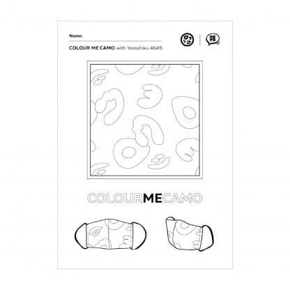 Colour Me Camo Colouring Page 1