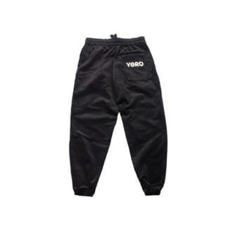 Oversized Sweatpants Joggers (Corduroy) - Black Back