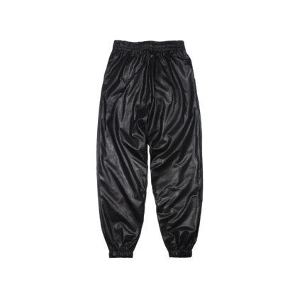 Oversized Sweatpants Joggers (PVC) - Black Front