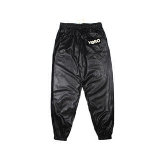 Oversized Sweatpants Joggers (PVC) - Black Back
