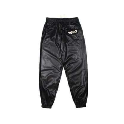 Oversized Sweatpants Joggers (PVC) - Black Back