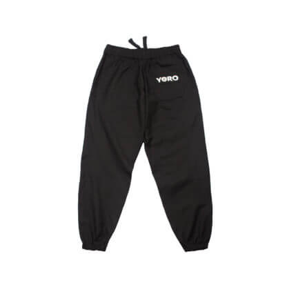 Oversized Sweatpants Joggers Denim) - Black Back