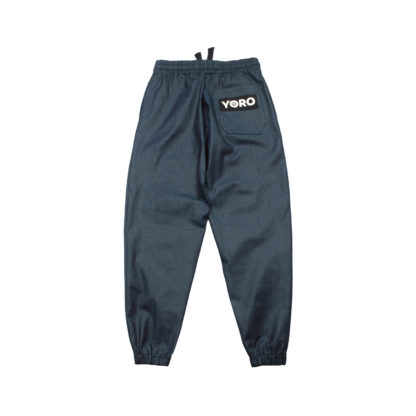 Oversized Sweatpants Joggers (Denim) - Blue Back