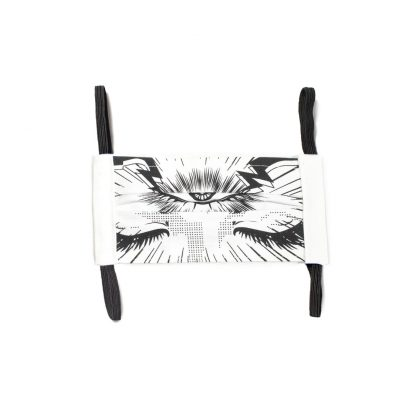 Manga Face Mask - iii (Third Eye) in White